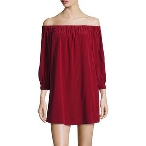 Alice + Olivia Off The Shoulder Shift Dress Sz Med